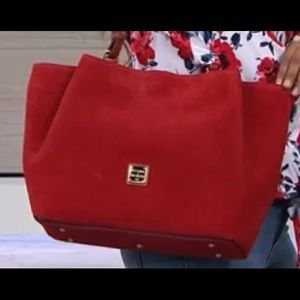 New with tags Dooney and Bourke Red Suede Tote Bag